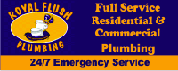 Website for Royal Flush Plumbing, Inc.