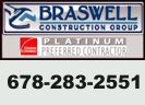 Website for Braswell Construction Group, Inc.