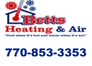 Website for Betts Heating & Air