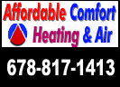 Website for Affordable Comfort Heating & Air
