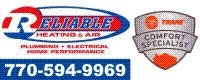 Website for Reliable Heating & Air, LLC