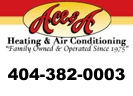 Website for Ace & A Heating & Air Conditioning of Dekalb