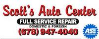 Website for Scott's Auto Center, Inc.