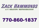 Website for Zack Hammonds A/C, Heating, Refrigeration, Inc.