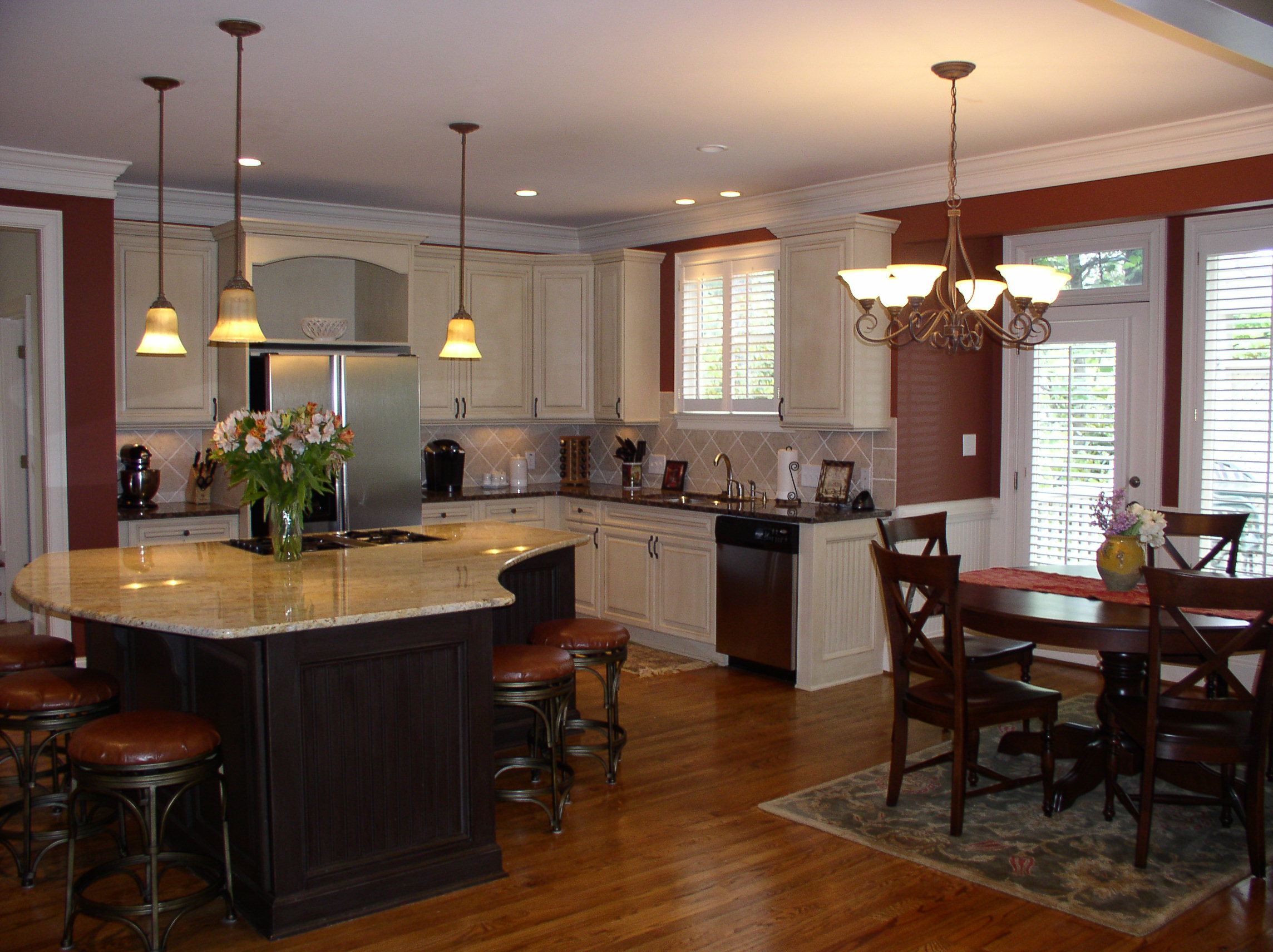 featured home executive home in white columns country club kitchen and breakfast area