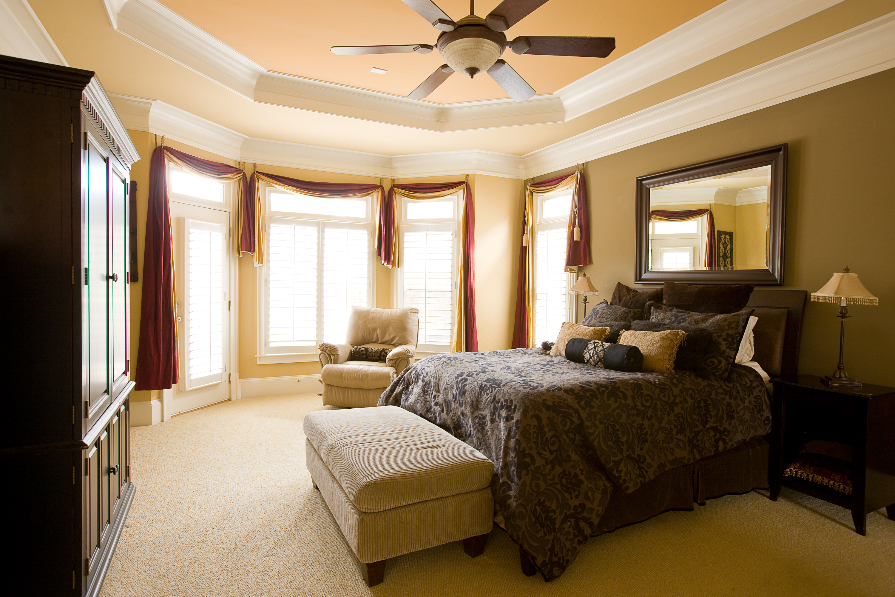Home staging makes a huge difference in a competitive real estate market previously listed Master bedroom home staging