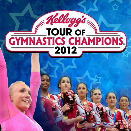 Gymnastics: The Kellogg's Tour of Gymnastics Champions includes gold medalists Gabby Douglas, Jordyn Wieber, Aly Raisman, McKayla Maroney, Kyla Ross and Nastia Lukin. The event begins at 7:30 p.m. Oct. 27 at the Gwinnett Arena.