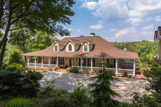 Low country style with acres of privacy and stocked lake for Low country style homes