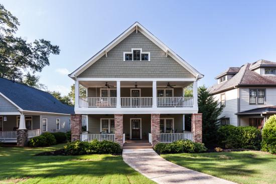 Custom craftsman bungalow charms smyrna neighborhood for Craftsman home builders atlanta