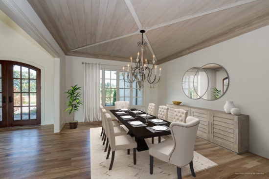 95+ Dining Room Entrance With Columns - Newton Residence 1 Dining ...