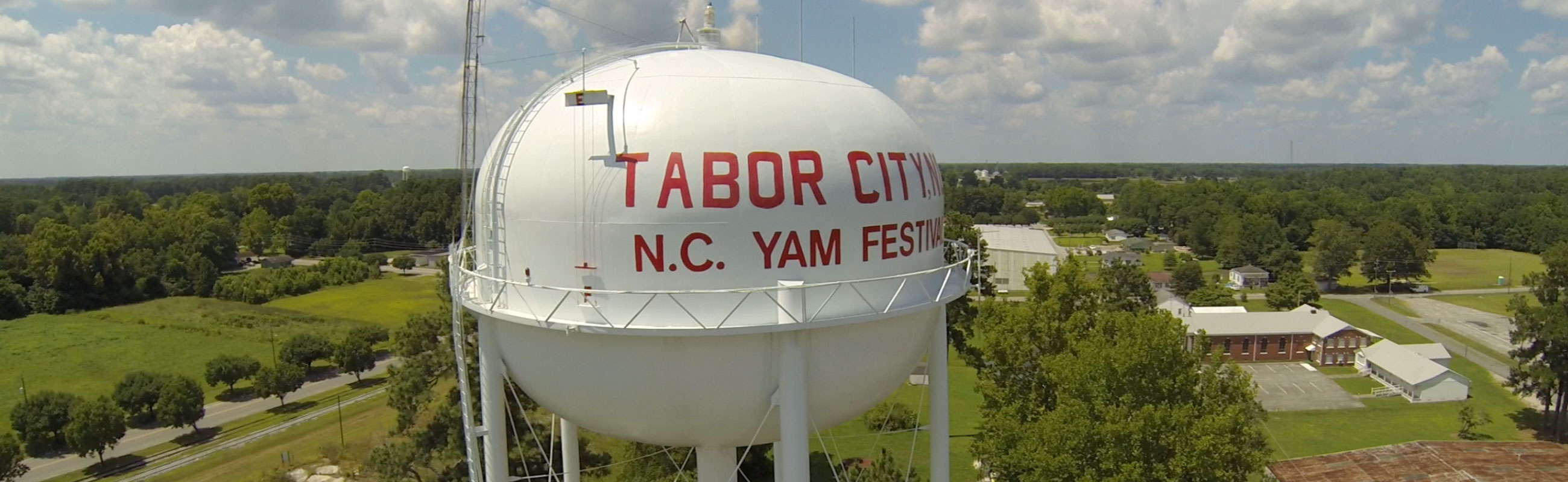 Tabor city yam festival water tower