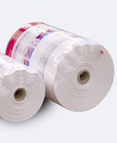 Flexible packaging bag rolls