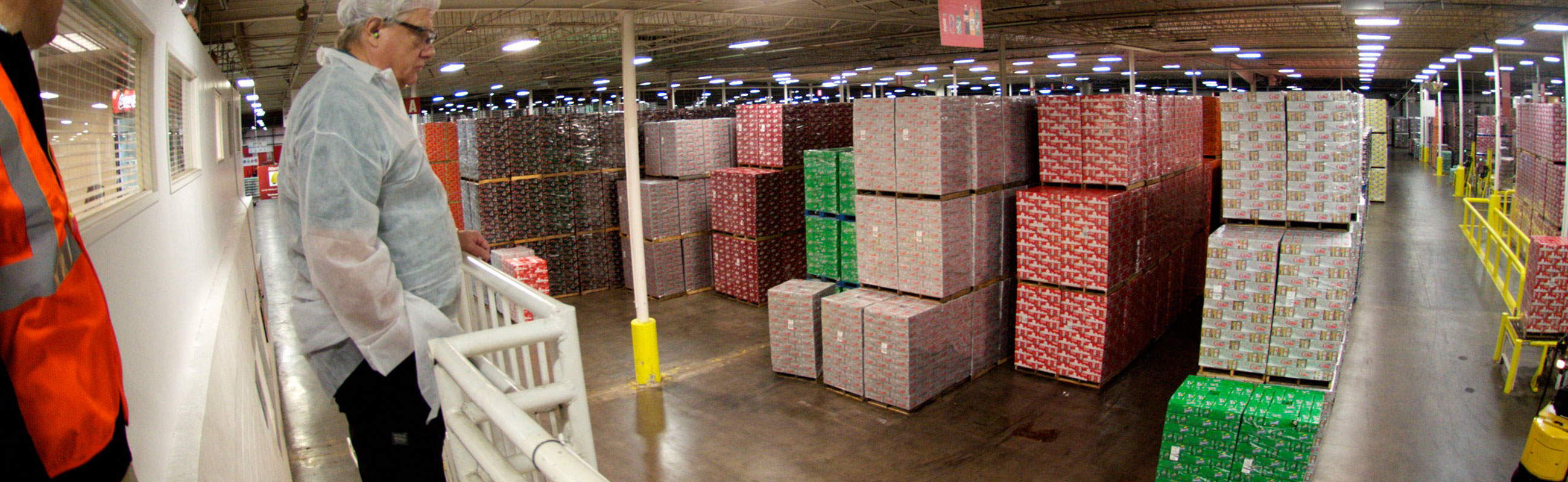 Beverage industry stretch wrapping pallets