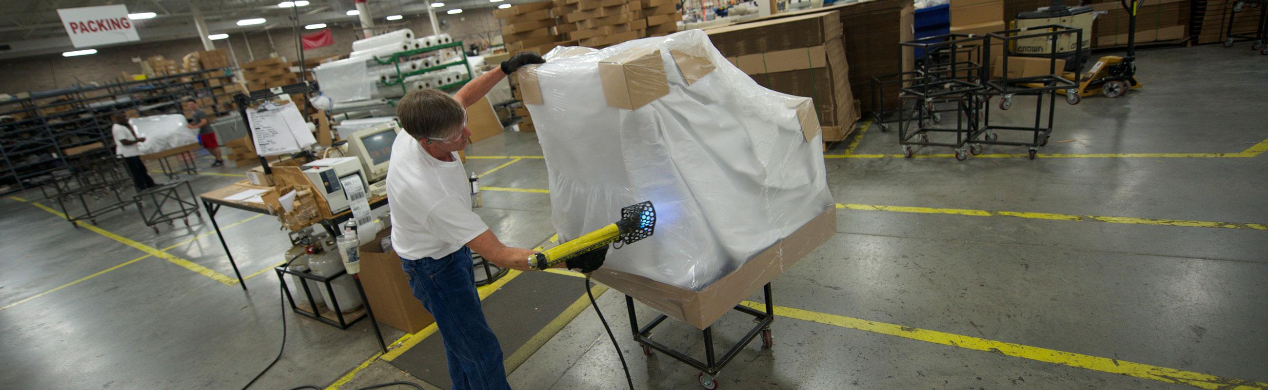 Shrink fast gun furniture packaging