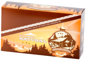 Natural large pipe tobacco carton