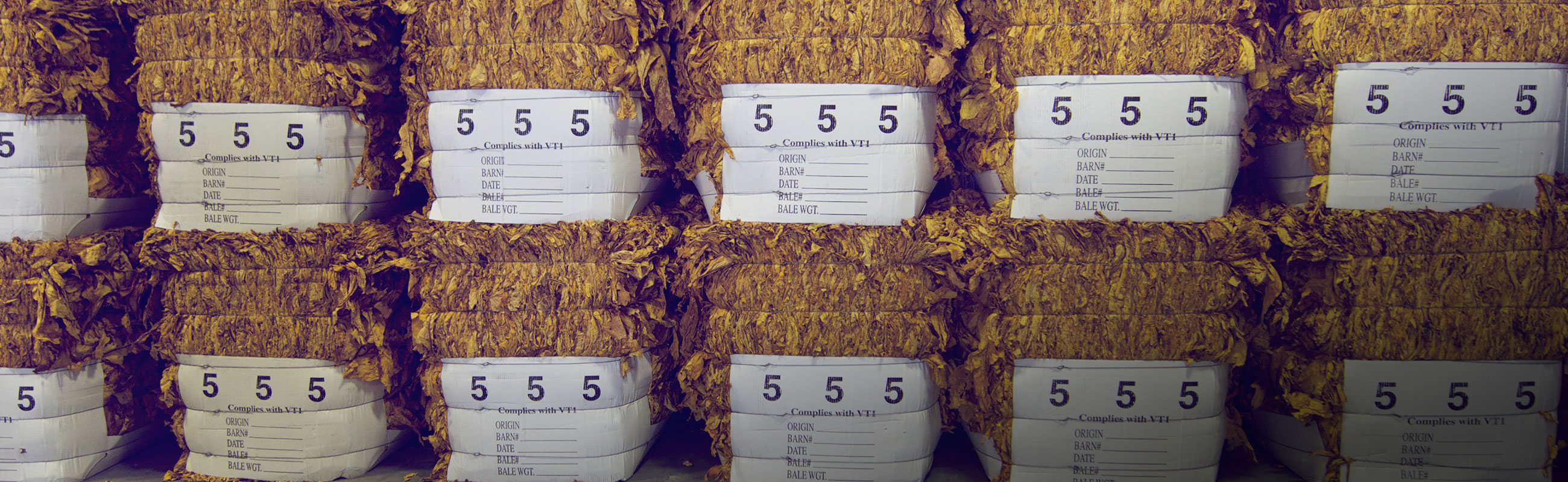 Tobacco bales packaging