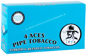 Tobacco industry carton blue