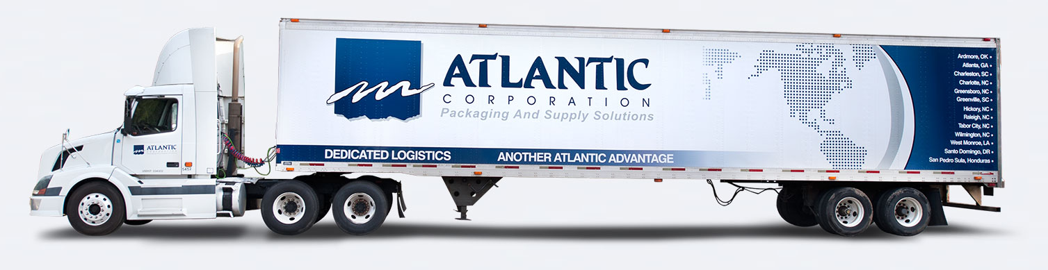 Atlantic packaging semi truck