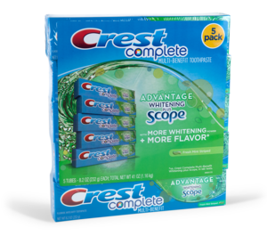 Crest contract packaging bundle label