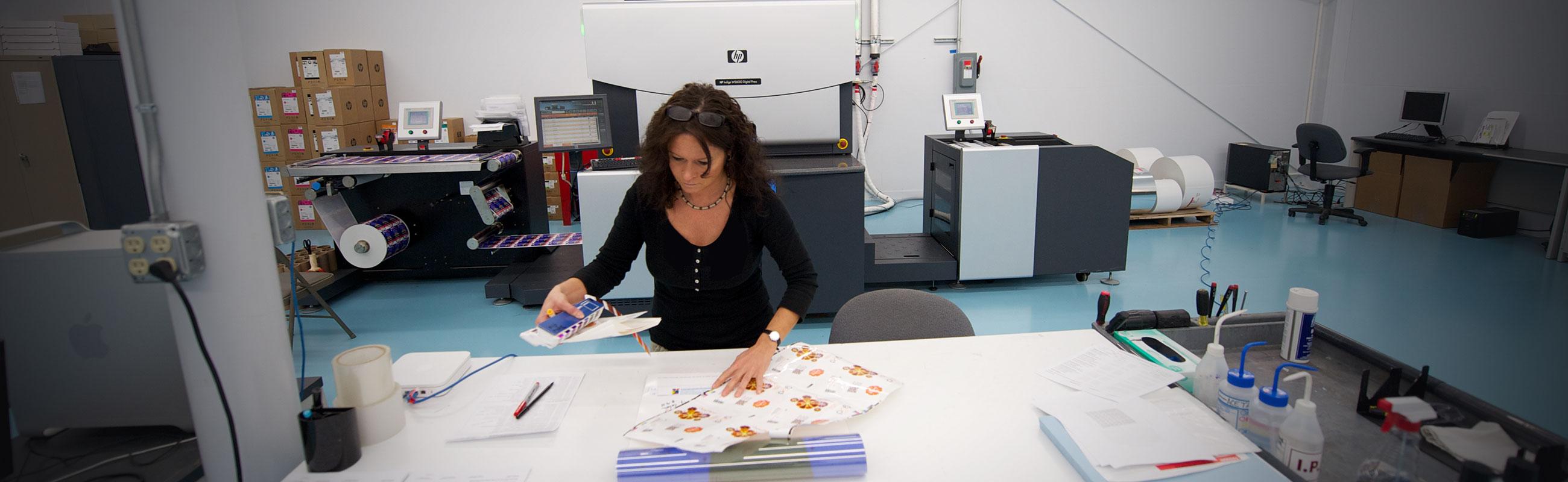 Terie digital press label inspection