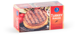 Turkey burgers folded cartons