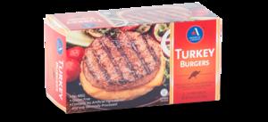 Turkey burgers folded cartons