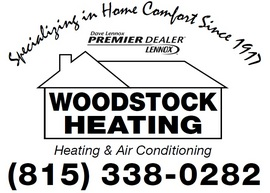Large woodstock heating logo
