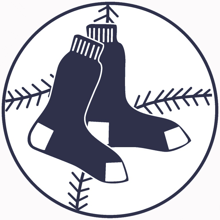 Original blue sox ball logo only navy