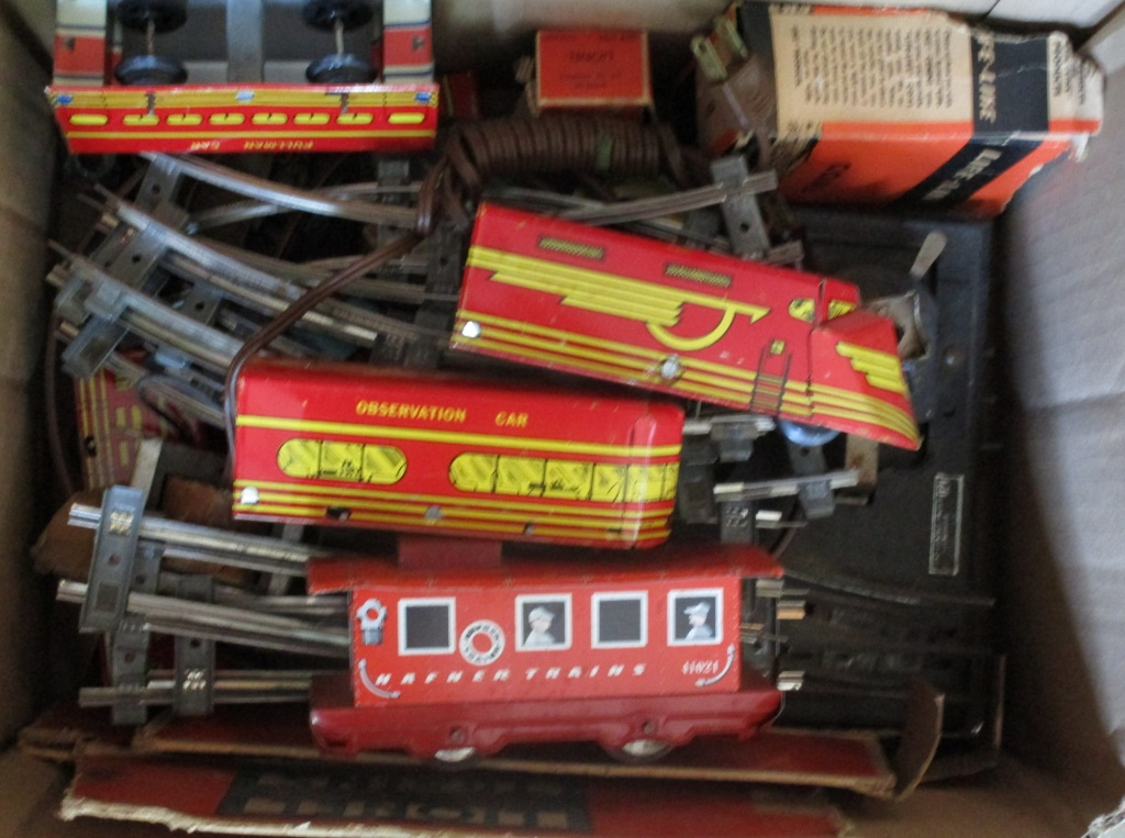 Vintage Tin Train Set