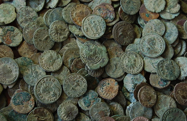 Antique Coins From London Portabe Antiquities Schemeflickrcommons Wikimedia Org