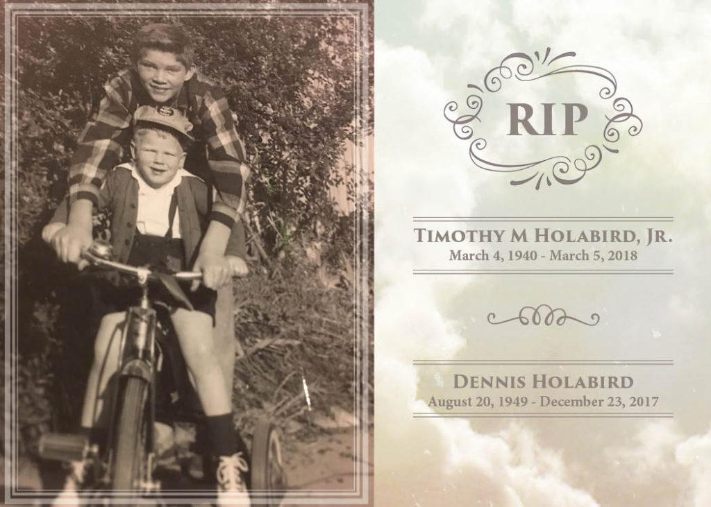 holabird memorial card