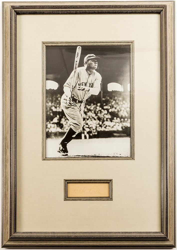 Lot 2398 Photo Of Babe Ruth With Signature
