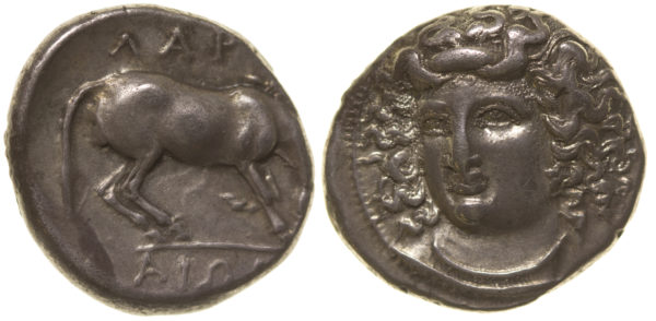 Lot #2282 Silver Drachm From Larissa, Thessaly
