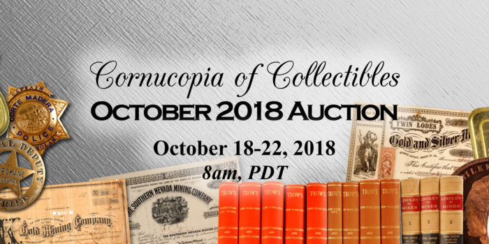 Cornucopia Of Collectibles | October 2018 Auction