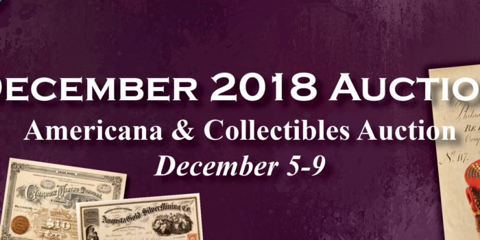 December 2018 Auction