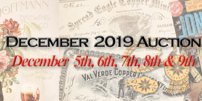 December 2019 Auction