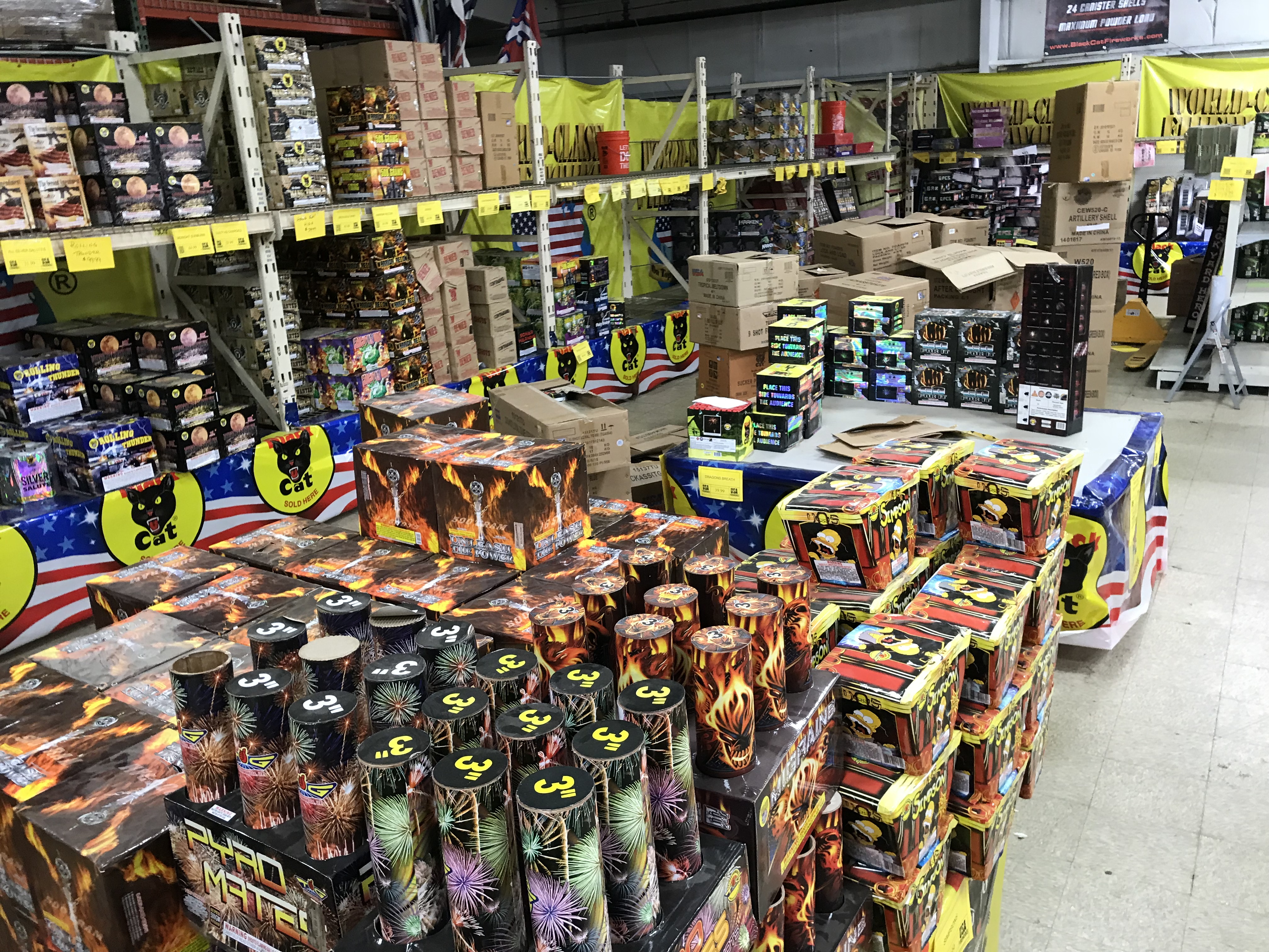 Two-Days Of USA Fireworks Inventory Online Auctions In Indianapolis, IN