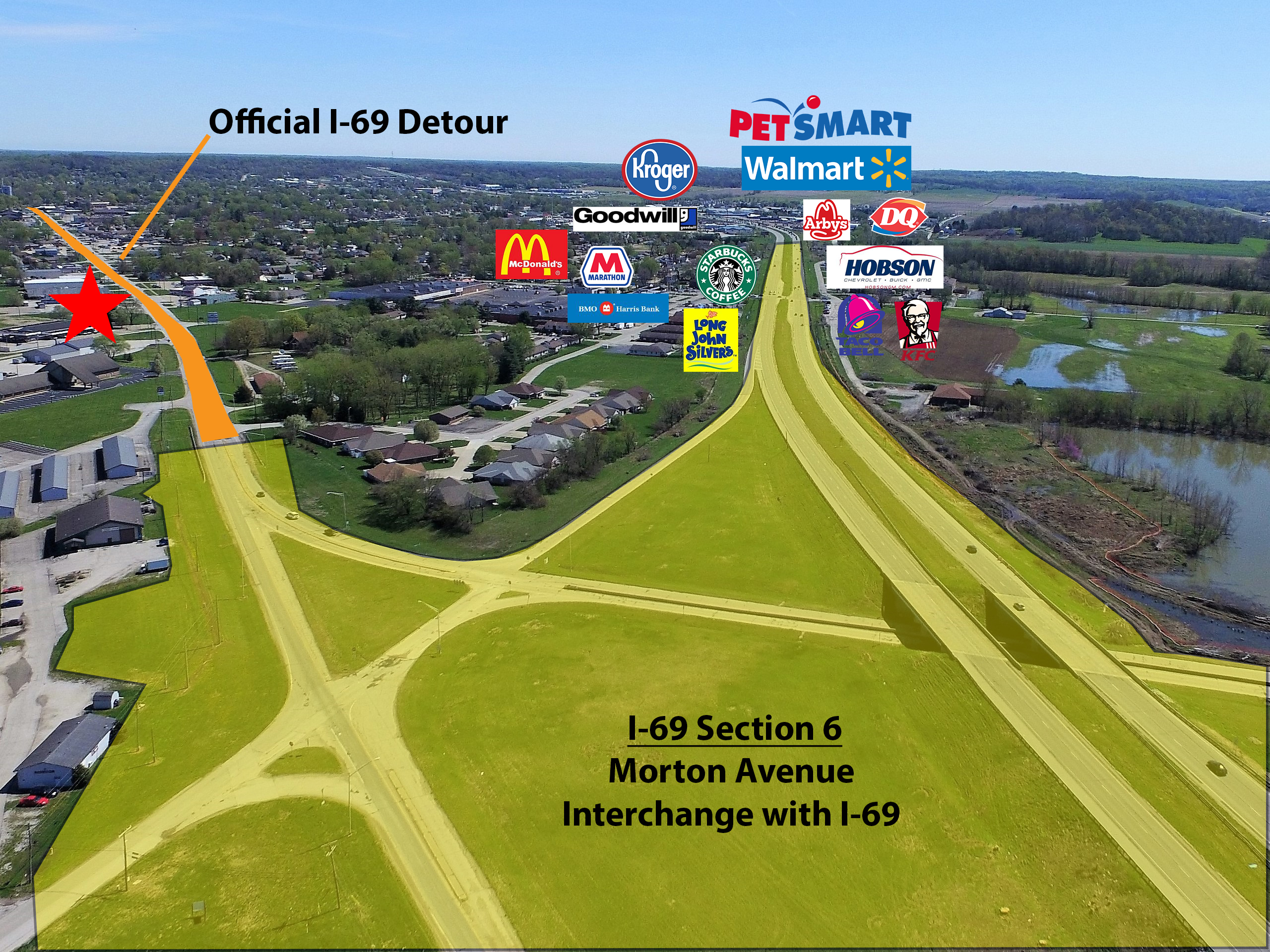 Retail Properties On I-69 Detour & Ramp In Martinsville, IN