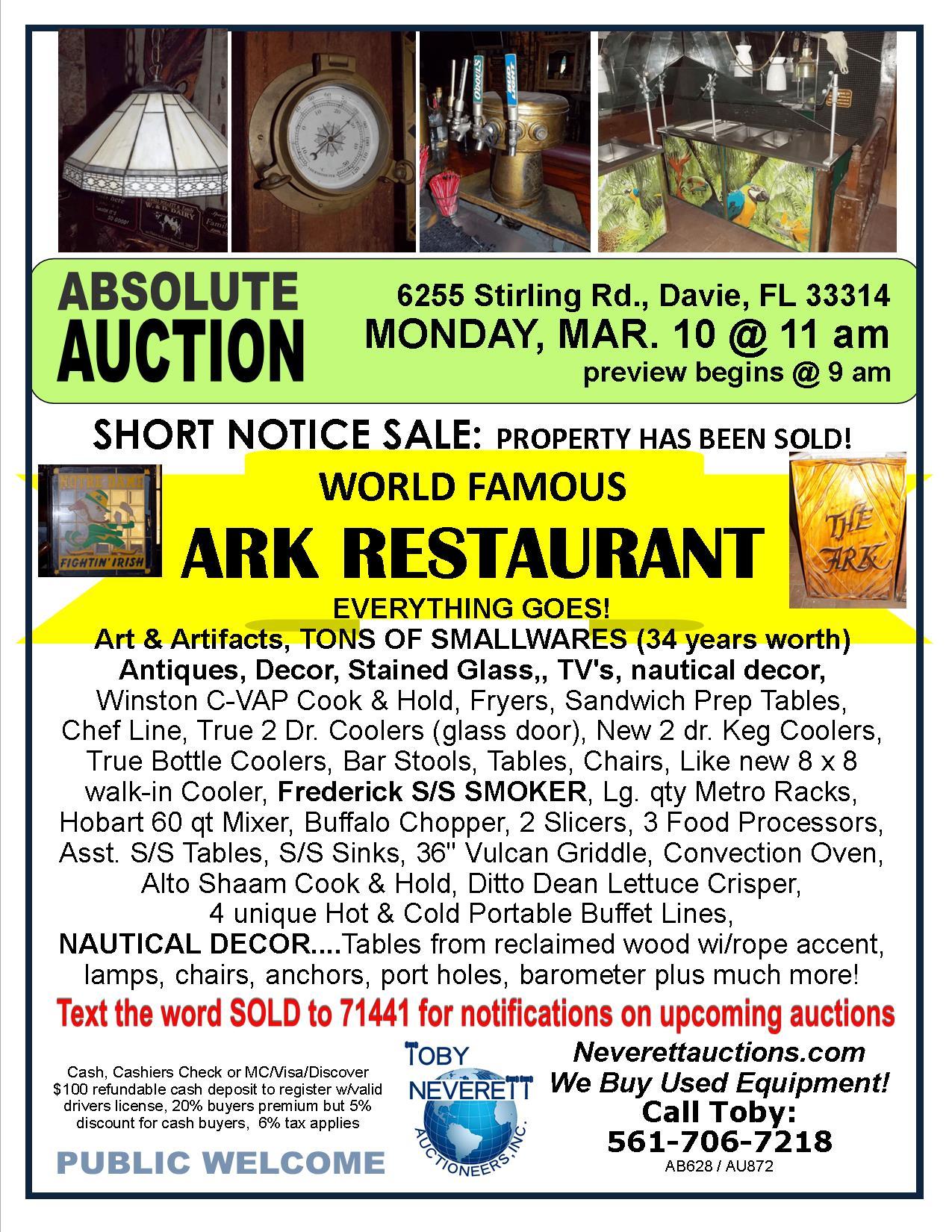 FLYER Ark Restaurant TRN