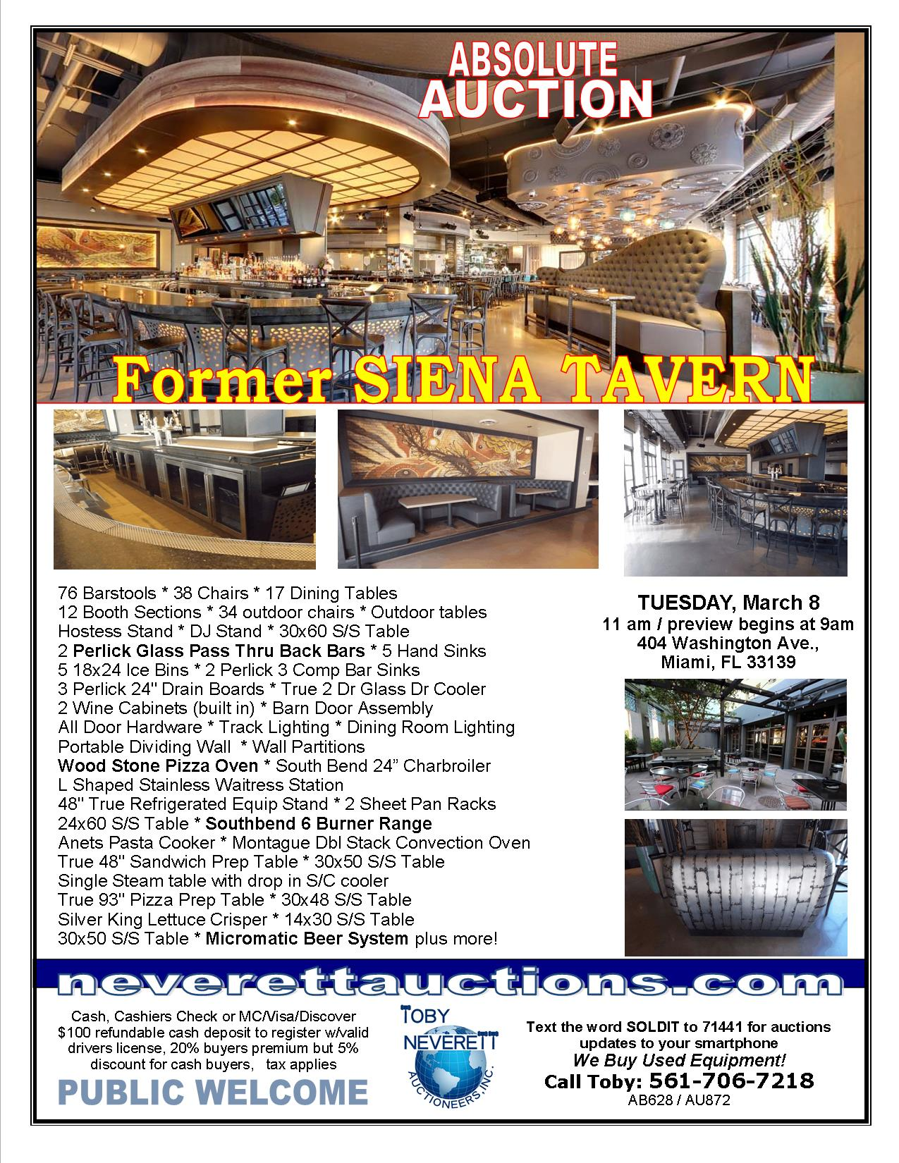 FLYER FOR 3.8 Siena Tavern