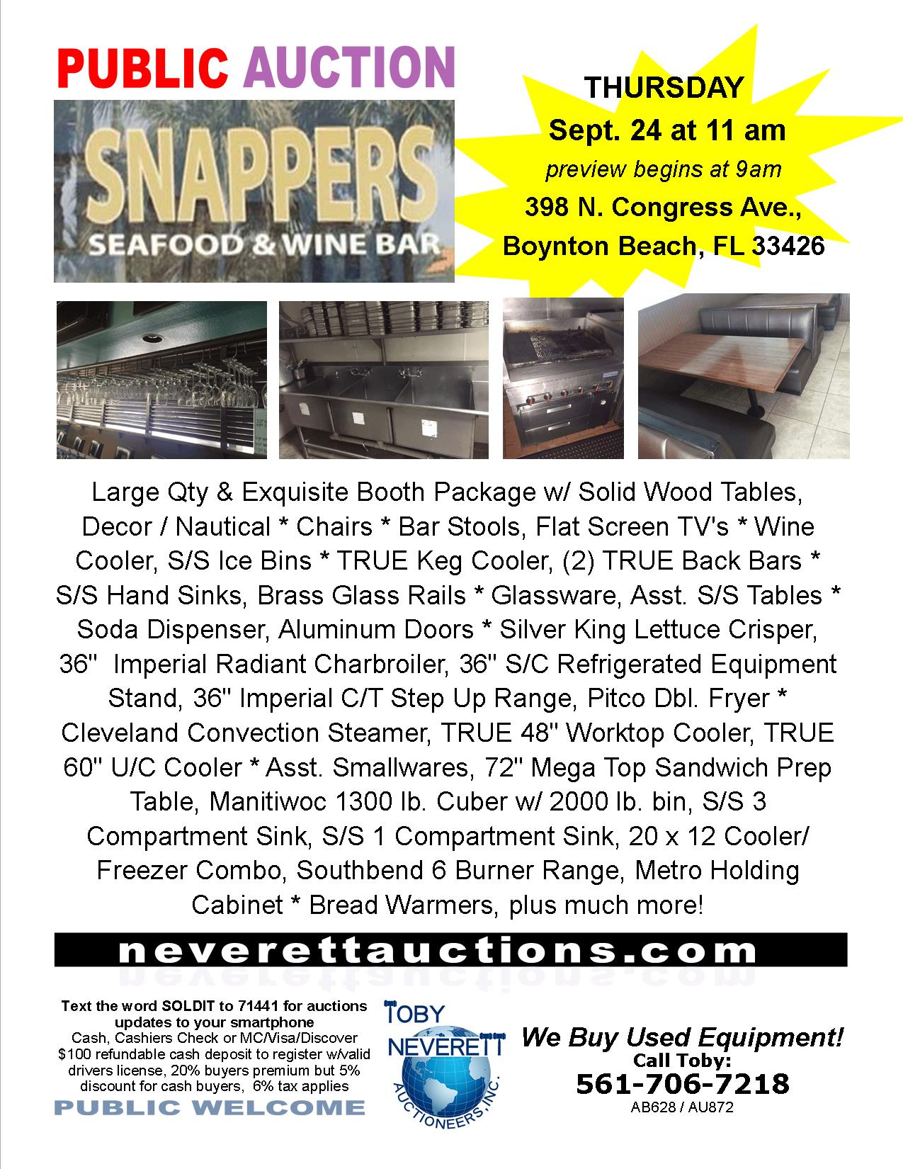 FLYER FOR 9.24 AUCTION