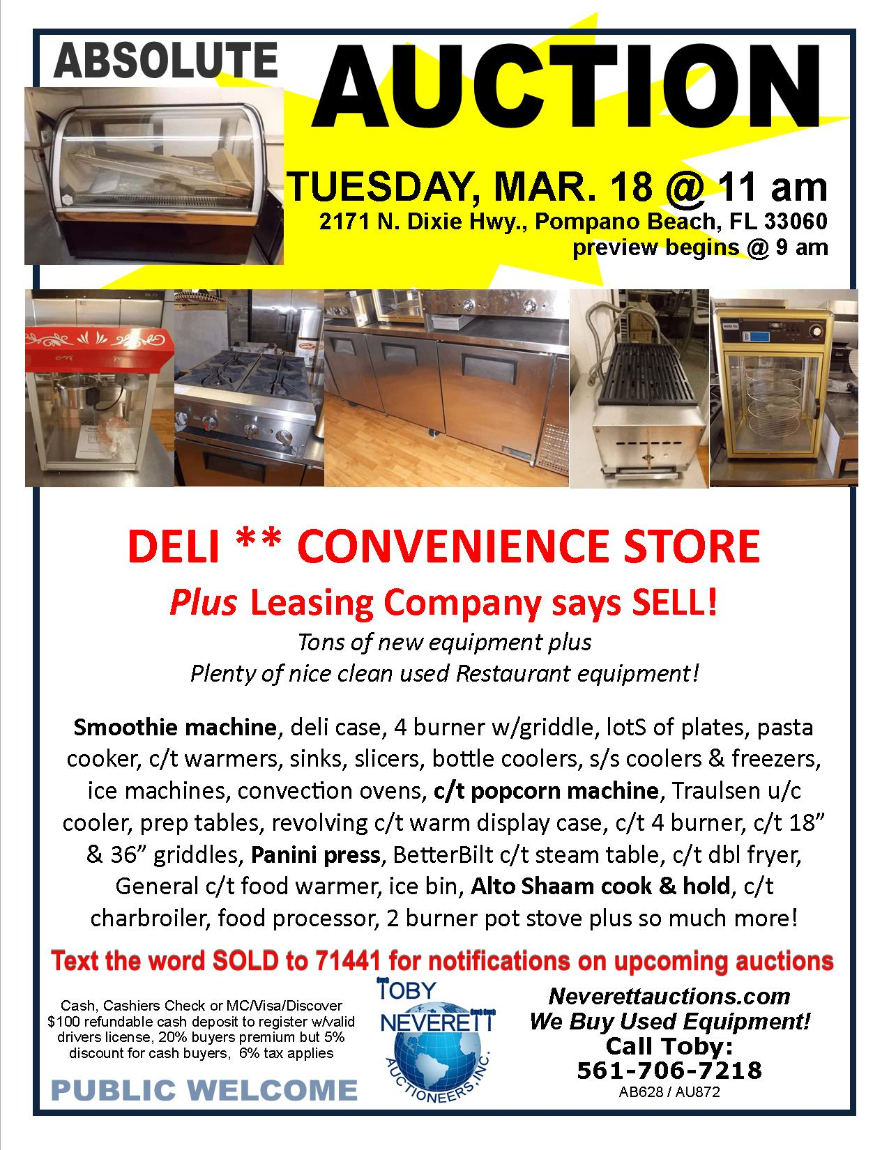 FLYER MARCH 18 AUCTION FOR TRN