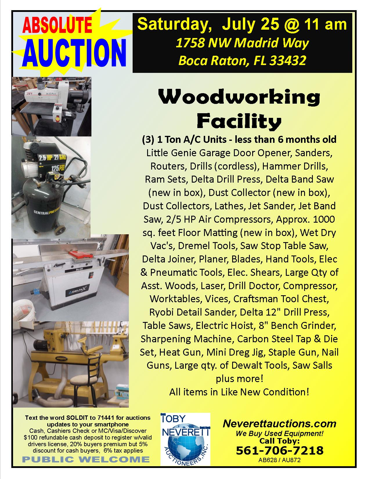 Woodworking Facily Flyer