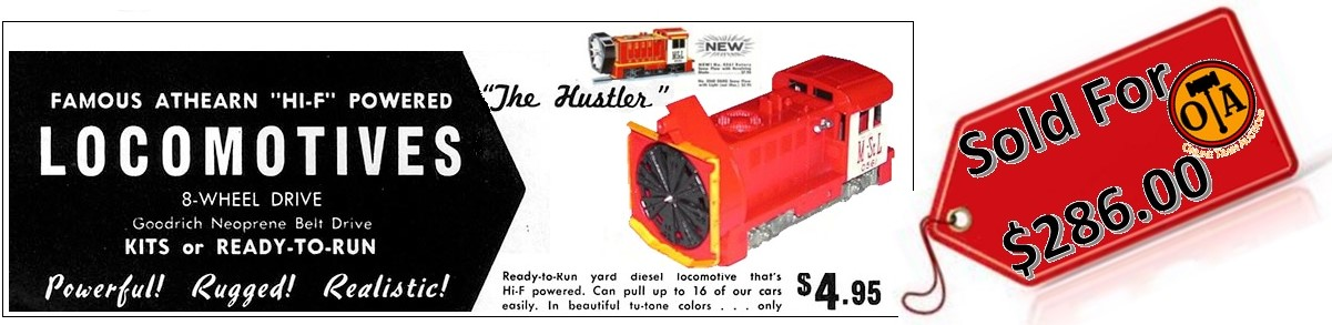 HO Scale HUSTLER Athearn Rotary Snow Plow