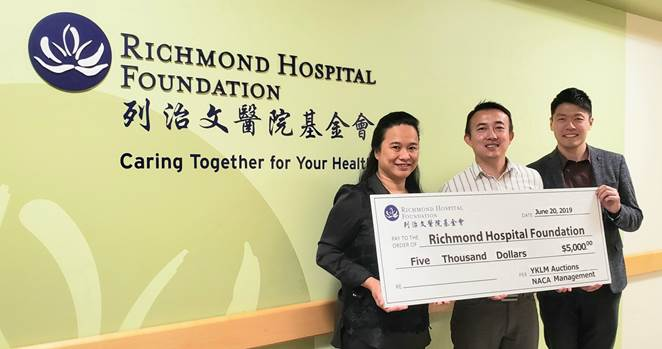 慈善藝術拍賣為列治文醫院籌得$5, 000善款