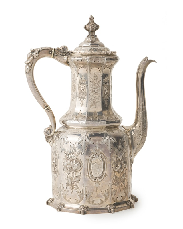 The 13th President of the United States, the ASPCA, and a Gothic Revival coffee pot