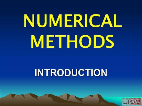 analysis of numerical methods pdf