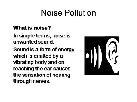 Cause of noise pollution essay