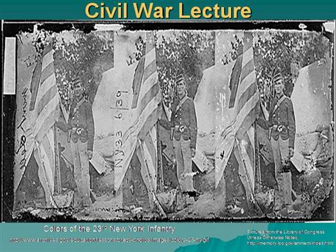 civil war lecture notes Course features selected lecture notes assignments: written (no examples) course highlights this course features archived syllabi from various semesters course description although attention will be devoted to the causes and long-term consequences of the civil war, this class will focus primarily on the war years (1861-1865) with special emphasis on the military and technological aspects.