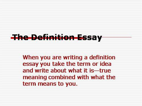 Custom term paper definition
